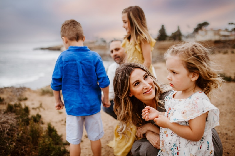 San Diego Family Photography, family of 5 on top of beachside cliffs