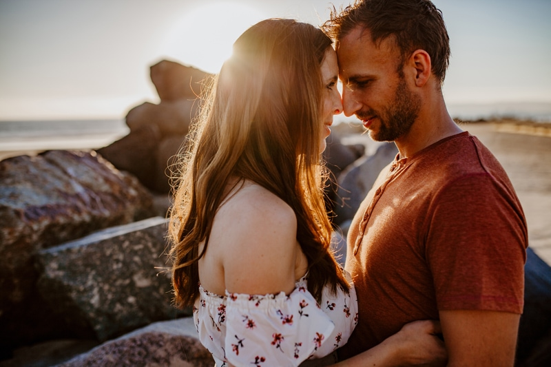 San Diego Couples Photography, couple standing forehead to forehead
