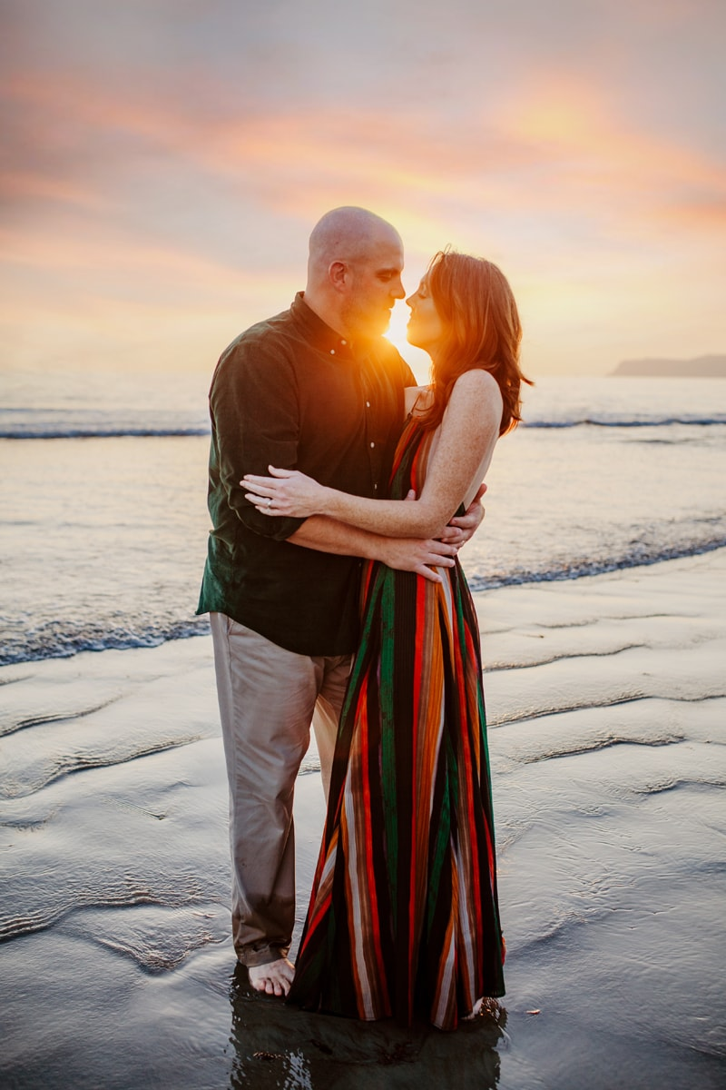 San Diego Couples Photography, couple standing in the light of the sunset