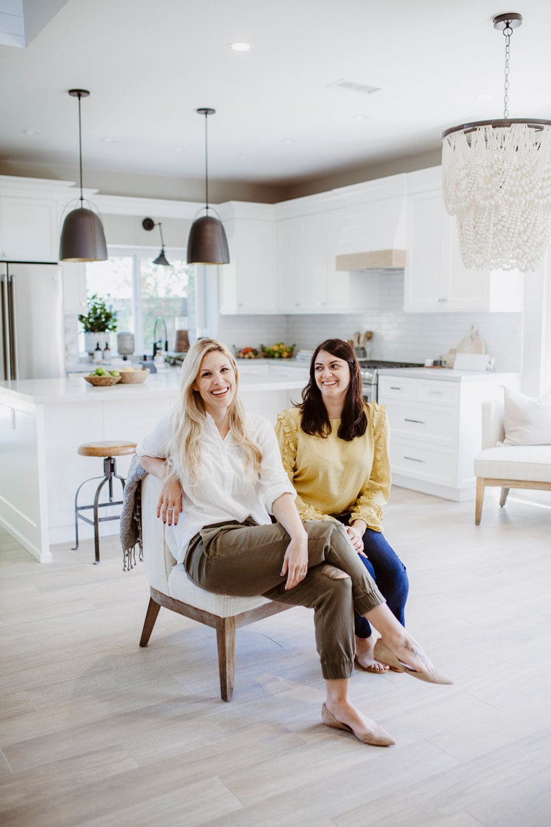 San Diego Branding Photography, two women sitting in a nice kitchen